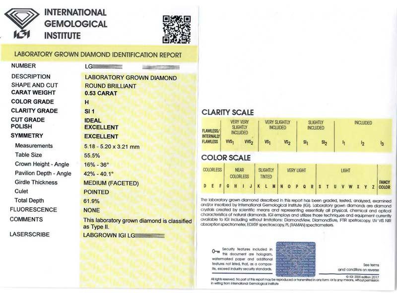 Independent IGI Certificate