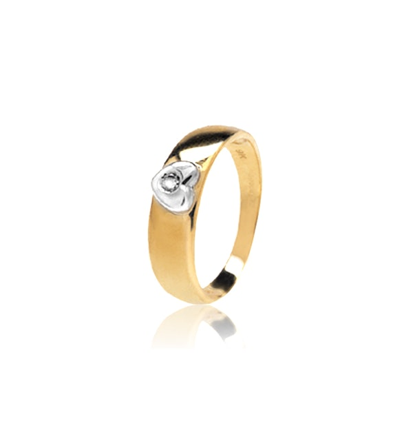 0.04ct Diamond and 9K Gold Single Stone Ring - RTC-E3228 - image 1