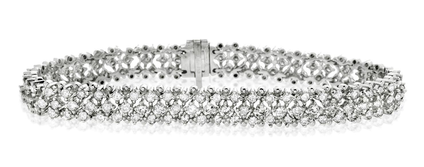 Evening Bracelet 5.50CT Diamond 18KW