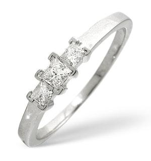 TRILOGY RING 0.25CT DIAMOND 9K WHITE GOLD