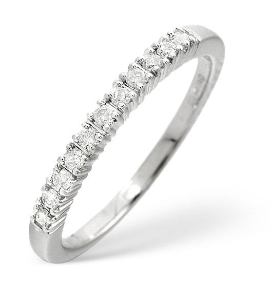 Half Eternity Ring 0.30CT Diamond 9K White Gold