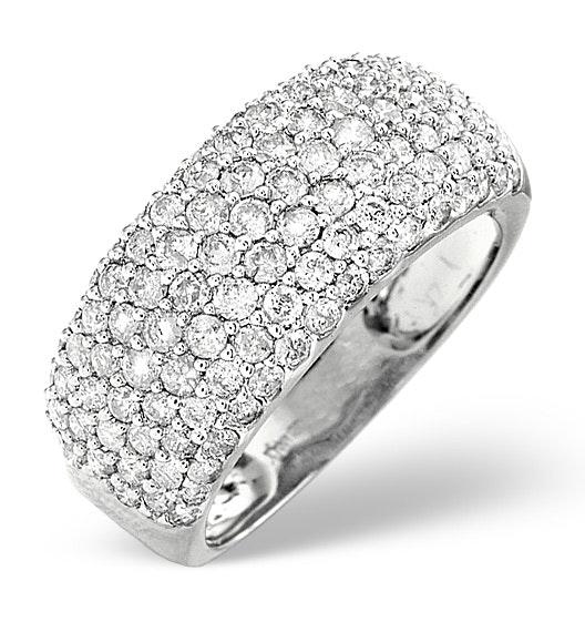 18K White Gold Diamond Ring 1.35ct