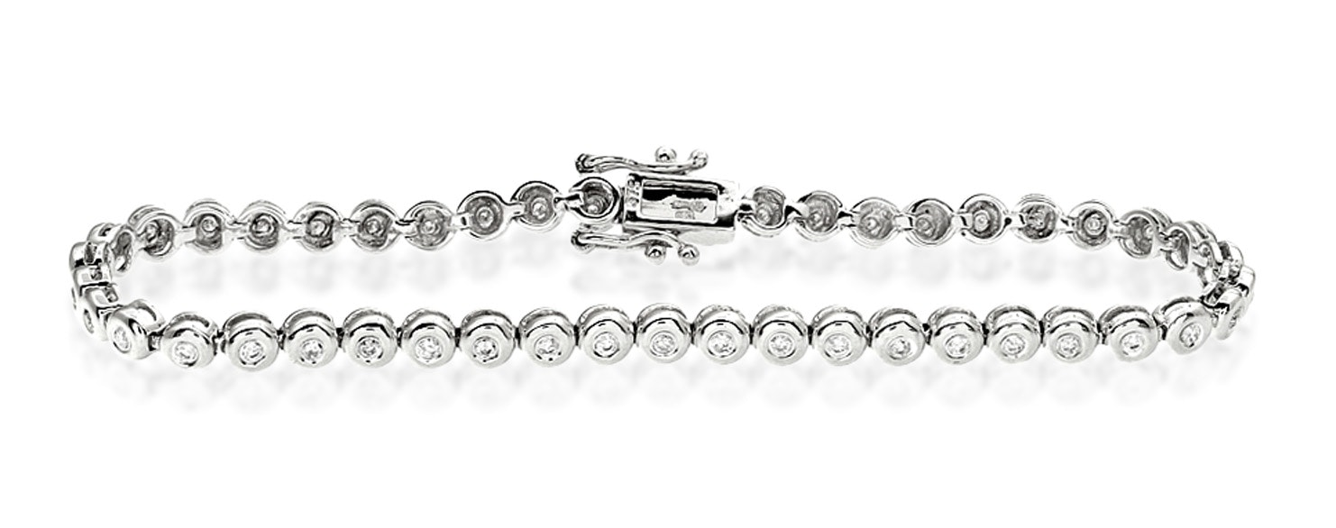 Tennis Bracelet 2.00CT Diamond 9K White Gold