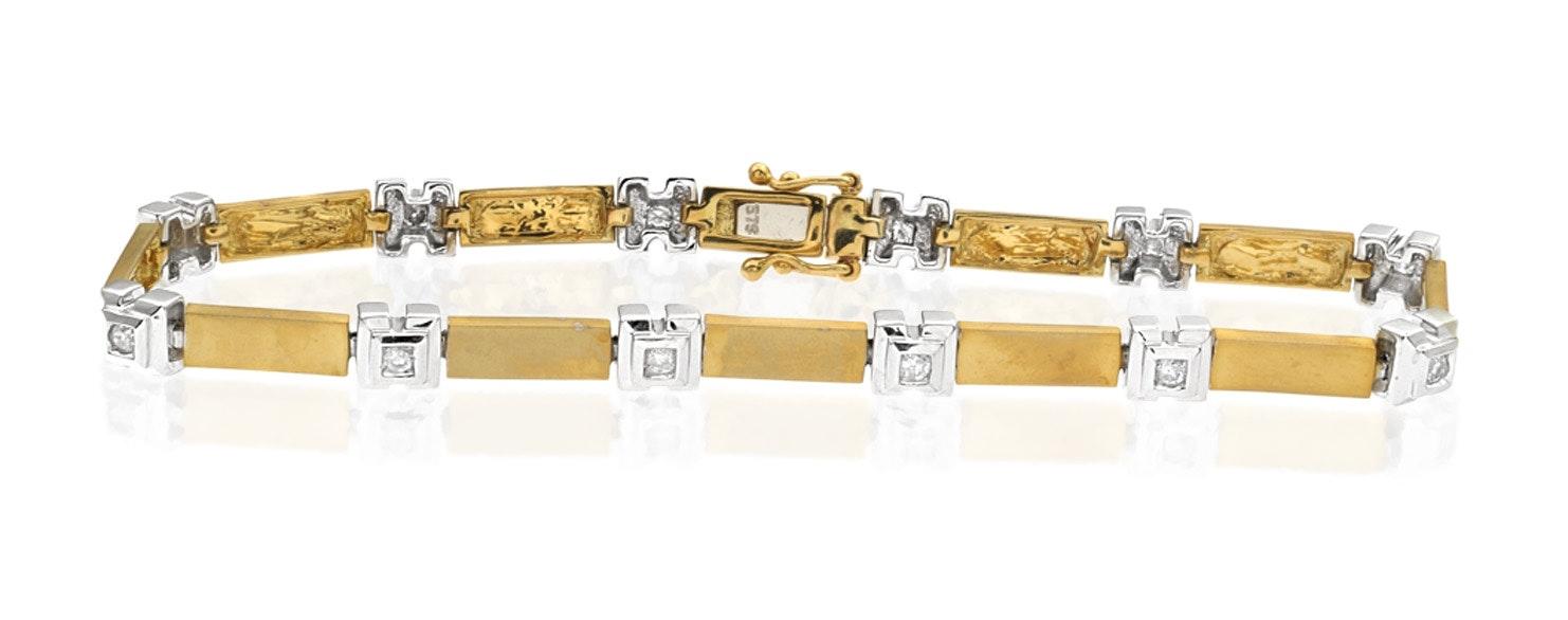 Everyday Bracelet 0.25CT Diamond 2-Tone