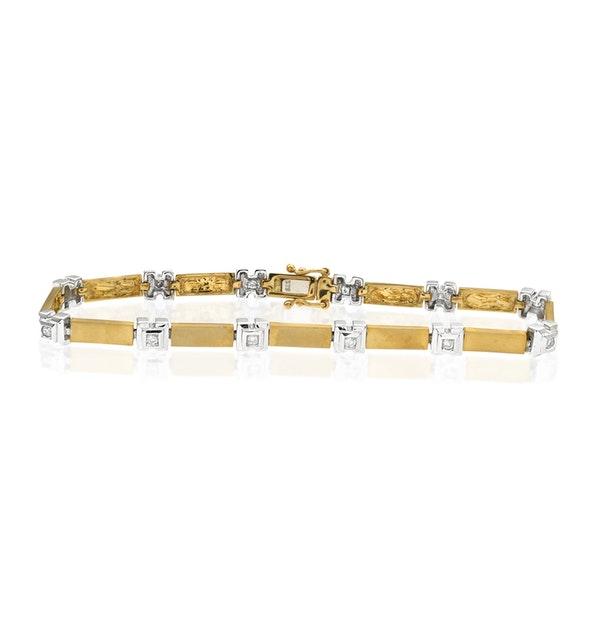 Everyday Bracelet 0.25CT Diamond 2-Tone - image 1