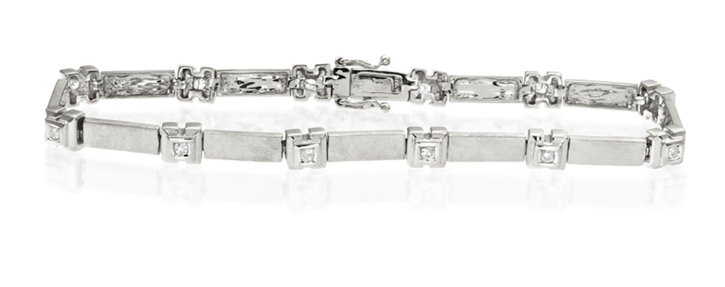 Everyday Bracelet 0.25CT Diamond 9K White Gold