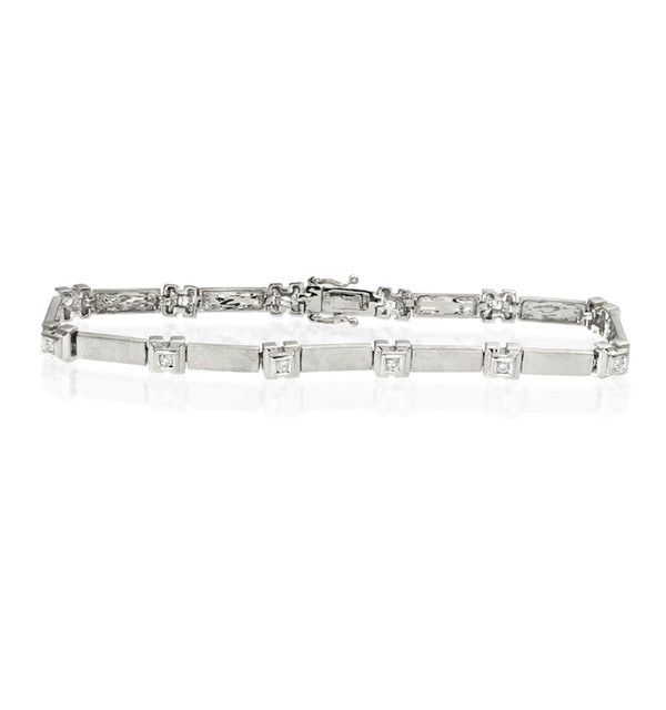 Everyday Bracelet 0.25CT Diamond 9K White Gold - image 1