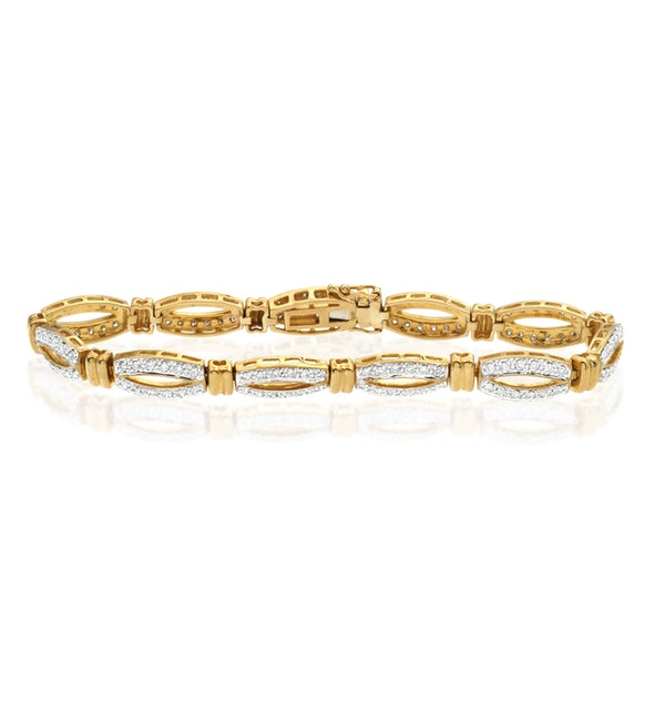 Everyday Bracelet 1.50CT Diamond 9K Yellow Gold - image 1