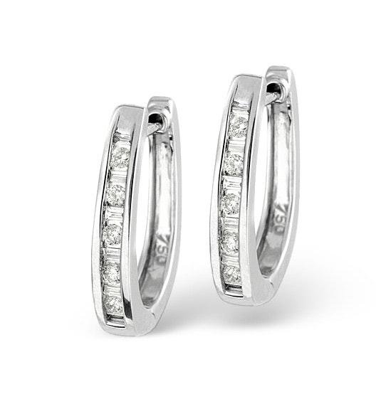 18K White Gold Diamond Earrings 0.25ct