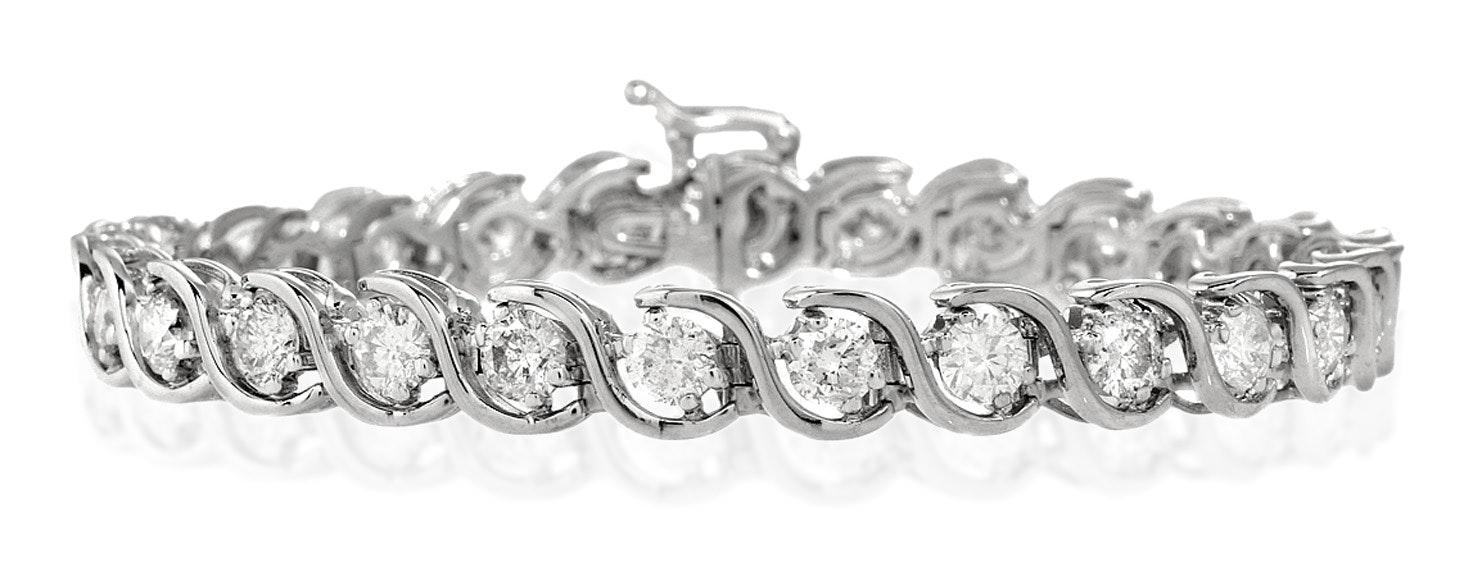 Diamond Tennis Bracelet 7.00ct 18K White Gold