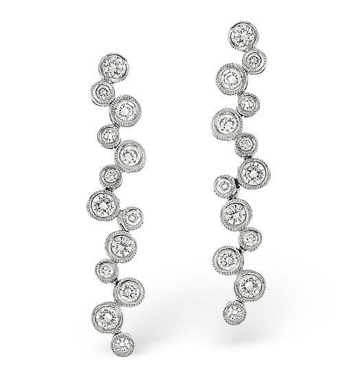H/Si Drop Earrings 2.00CT Diamond 18KW