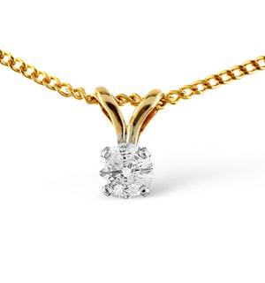 DIAMOND SOLITAIRE NECKLACE 0.10CT DIAMOND 9K YELLOW GOLD