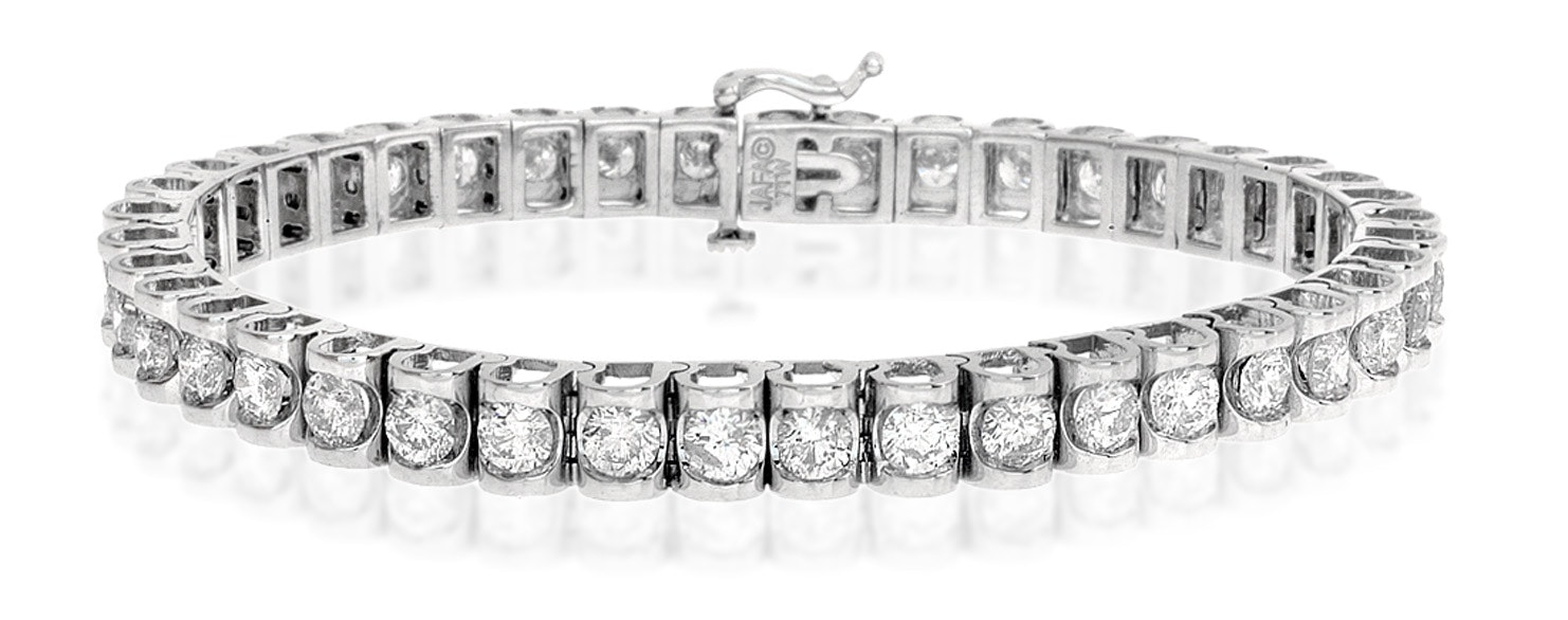 Diamond Tennis Bracelet 7.78ct 18K White Gold