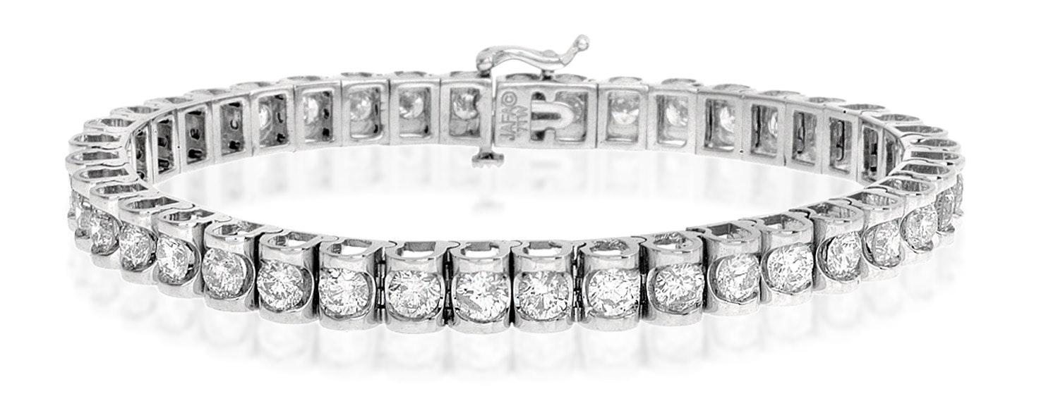 Diamond Tennis Bracelet 7.78ct 18K White Gold