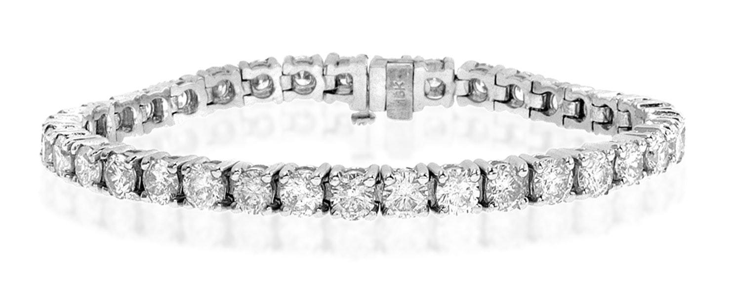 Diamond Tennis Bracelet 9.00ct 18K White Gold