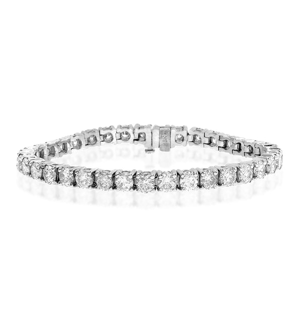 Diamond Tennis Bracelet 9.00ct 18K White Gold - image 1