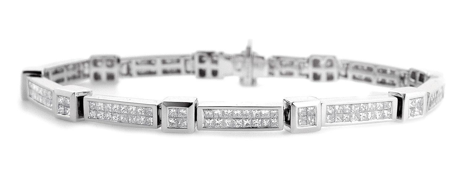 Diamond 4.25ct 18K White Gold Bracelet - RTC-J3250