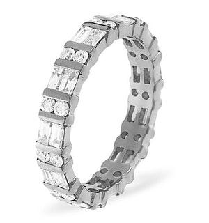 ETERNITY RING MIA 18K WHITE GOLD DIAMOND 1.00CT H/SI