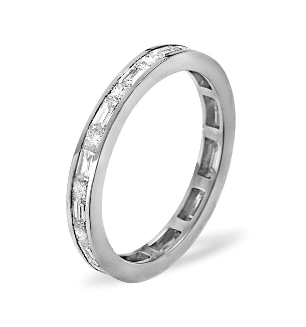 Abigail Diamond Eternity Ring in 18K White Gold - Size i - image 1