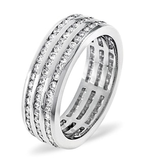 ETERNITY RING AMY 18K WHITE GOLD DIAMOND 1.50CT H/SI