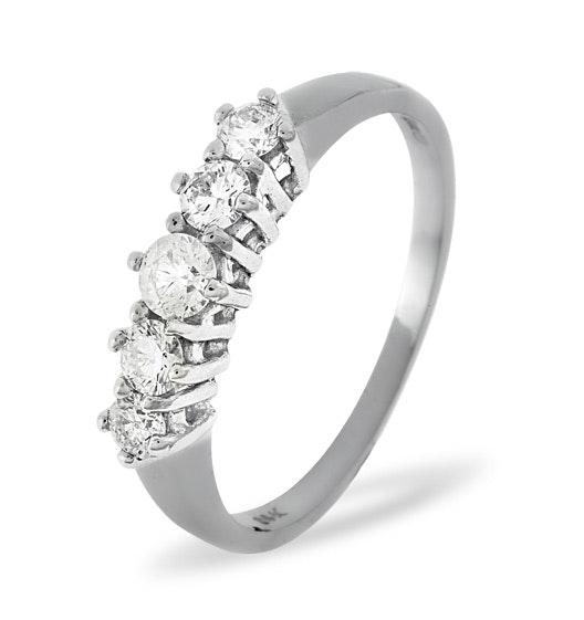 Ellie 18K White Gold 5 Stone Diamond Eternity Ring 0.50CT H/SI