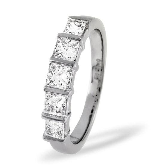 Lauren Platinum 5 Stone Diamond Eternity Ring 0.50CT G/VS