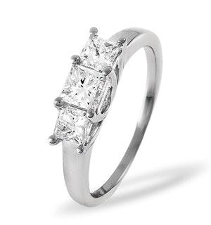 LAUREN 18K WHITE GOLD 3 STONE DIAMOND RING 0.25CT H/SI