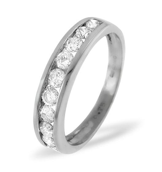 18K White Gold Rae Half Eternity Ring 0.15CT H/SI