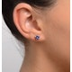 Tanzanite 1.00CT high quality (AA) 925 Silver Earrings - image 4