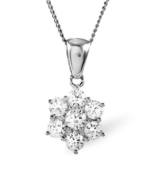 0.25ct H/si Diamond and Platinum Pendant -  FR27-47JUS