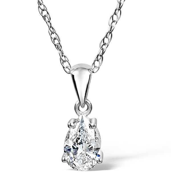 Kiera Platinum Pear Shape Diamond Pendant 0.25CT H/SI