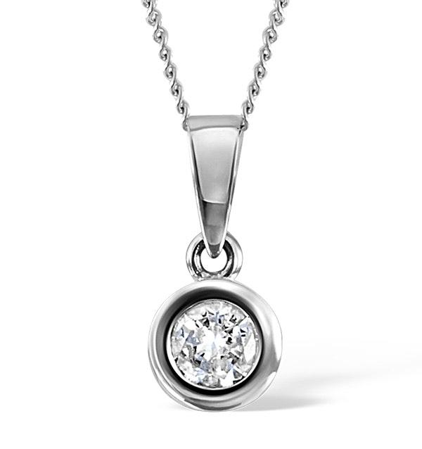 Certified Diamond 0.50CT Emily Platinum Pendant G/SI1