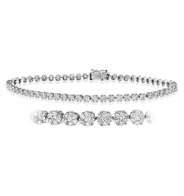 Chloe 18K White Gold Diamond Bracelet 7.00ct G/Vs - image 1