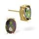 Mystic Topaz 7x5mm 9K Yellow Gold Earrings - image 1