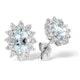Aquamarine 6 x 4mm And Diamond 9K White Gold Earrings - image 1