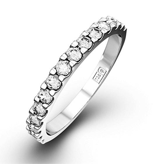15 STONE CHLOE PLATINUM DIAMOND HALF ETERNITY RING 0.50CT G/VS