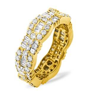 ETERNITY RING AMELIA 18K GOLD DIAMOND 2.55CT H/SI