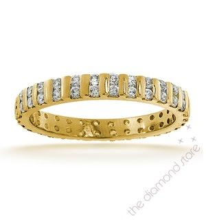 ETERNITY RING ELLIE 18K GOLD DIAMOND 0.50CT H/SI