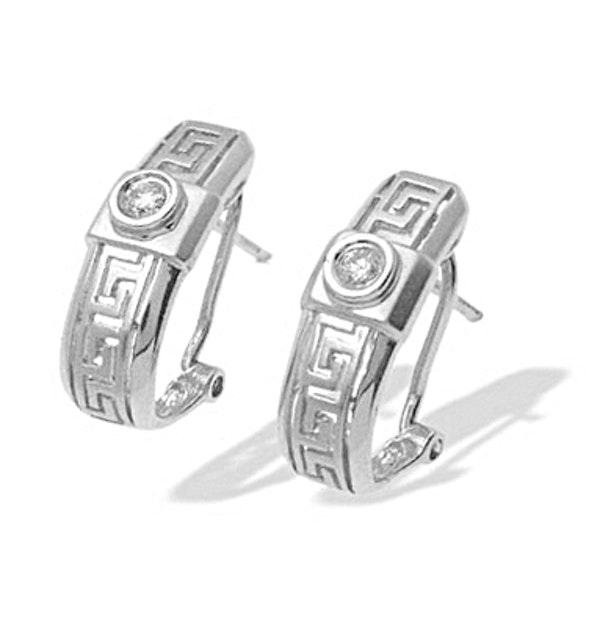 0.13ct Diamond Design Earrings In 9K White Gold - image 1