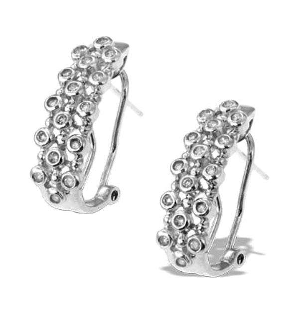 Diamond 0.28ct 9K White Gold Earrings - RTC-H3495 - image 1