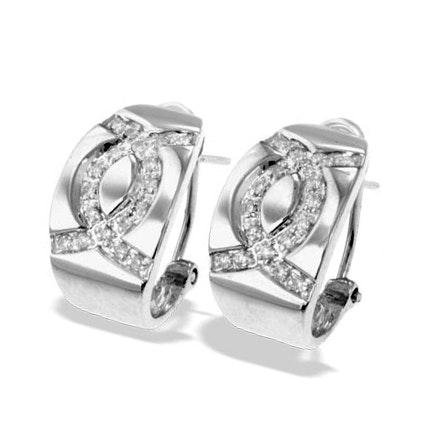 9K White Gold Diamond Detail Earrings(0.27ct)