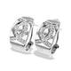 9K White Gold Diamond Detail Earrings(0.27ct) - image 1