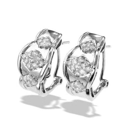 9K White Gold Diamond Detail Earrings(0.47ct)