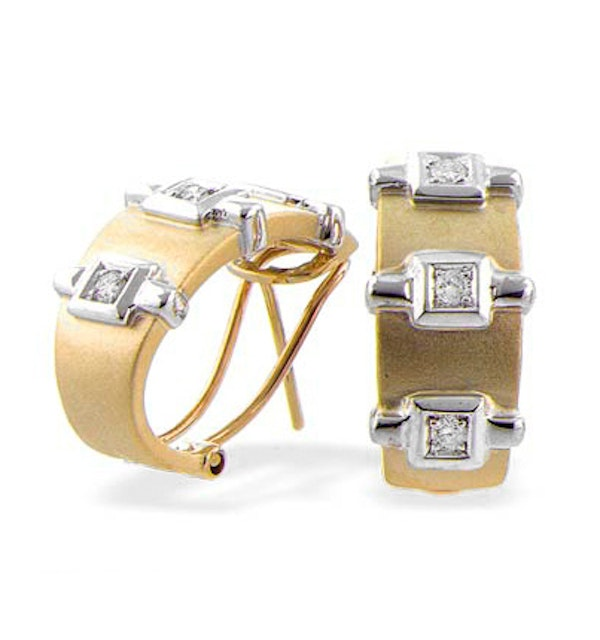 9K Gold Diamond Design Earrings (0.20ct) - image 1