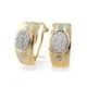 9K Gold Diamond Oval Detail Earrings (0.25ct) - image 1