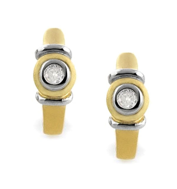 Diamond 0.12ct and 9K Gold Earrings - RTC-H3605 - image 1