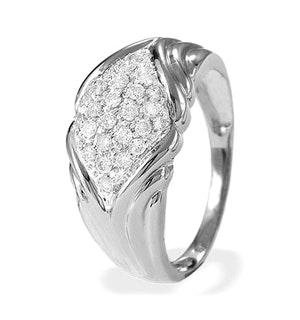 0.40CT DIAMOND AND 9K WHITE GOLD RING - RTC-E4281