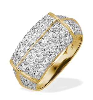 0.75CT DIAMOND AND 9K GOLD PAVE RING - RTC-E3998