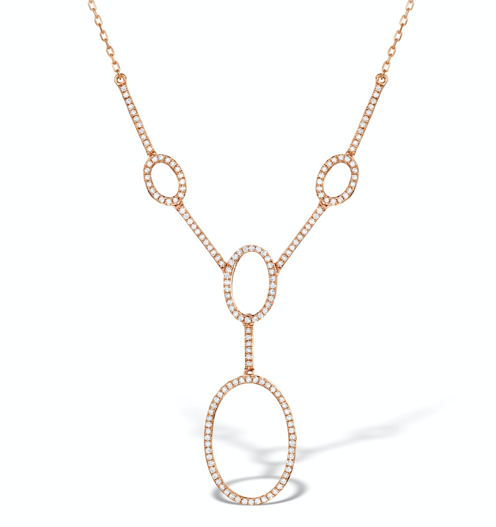 Vivara Collection 0.55ct Diamond and 9K Rose Gold Necklace D3403