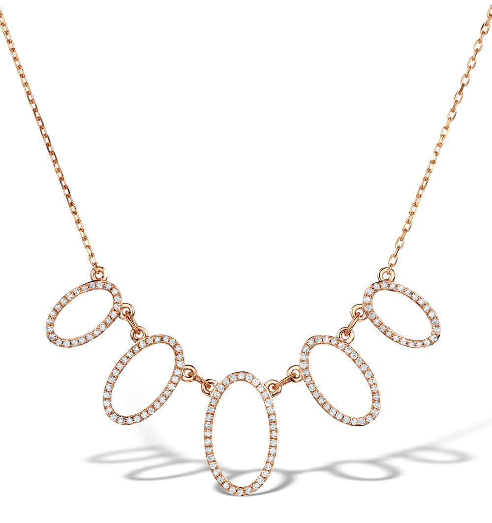 Vivara Collection 0.49ct Diamond and 9K Rose Gold Necklace D3404